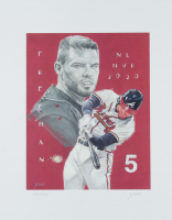 Freddie Freeman - Braves - John Yim 11x14 Signed Limited Edition Lithograph #/100 (PA COA) at PristineAuction.com