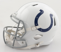 Carson Wentz Signed Colts Full-Size Speed Helmet (Fanatics Hologram) at PristineAuction.com