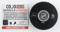 "Rick Vaive Signed NHL 100th Anniversary Logo Hockey Puck Inscribed ""1979-82"" (COJO COA) at PristineAuction.com"
