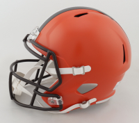 Jarvis Landry & Odell Beckham Jr. Signed Browns Full-Size Speed Helmet (JSA COA) at PristineAuction.com
