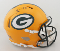 Aaron Rodgers Signed Packers Full-Size Authentic On-Field Speed Helmet (Steiner COA) (See Description) at PristineAuction.com