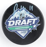 Peyton Krebs Signed 2019 NHL Draft Logo Hockey Puck (COJO COA) at PristineAuction.com
