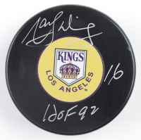 """Marcel Dionne Signed Kings Logo Hockey Puck Inscribed """"HOF 92"""" (COJO COA) at PristineAuction.com"""