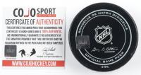 "Felix Potvin Signed Maple Leafs Logo Hockey Puck Inscribed ""The Cat"" (COJO COA) at PristineAuction.com"