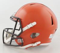 Joe Thomas Signed Browns Full-Size Speed Helmet (Schwartz Hologram) (See Description) at PristineAuction.com