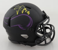 Justin Jefferson Signed Vikings Eclipse Alternate Speed Mini-Helmet (Beckett Hologram) at PristineAuction.com