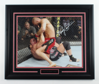 Randy Couture Signed 22.5x26.5 Custom Framed Photo Display (Beckett COA) at PristineAuction.com