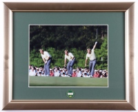 Jack Nicklaus 13x16 Framed 1986 Masters Win Photo Display With Official Masters Pin at PristineAuction.com