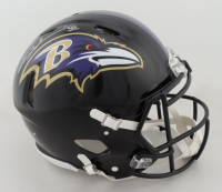 Ray Lewis Signed Ravens Full-Size Authentic On-Field Speed Helmet (Beckett Hologram) at PristineAuction.com