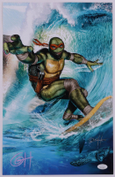 "Greg Horn Signed ""Teenage Mutant Ninja Turtles: Surf's Up Dude!"" 11x17 Lithograph (JSA COA) (See Description) at PristineAuction.com"