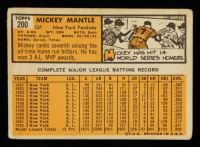 Mickey Mantle 1963 Topps #200 at PristineAuction.com