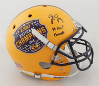 """Justin Jefferson Signed LSU Tigers Commemorative Full-Size Authentic On-Field Helmet Inscribed """"19 NATL Champs"""" (Beckett COA) at PristineAuction.com"""