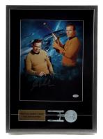 "William Shatner Signed ""Star Trek"" 15.5x22.5x2 Custom Framed Photo Shadow Box Display With Prop Enterprise (JSA COA) at PristineAuction.com"