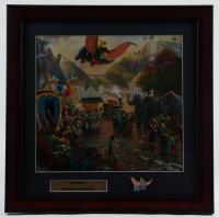 "Thomas Kinkade ""Dumbo"" 16x16 Custom Framed Print Display With Dumbo Pin at PristineAuction.com"