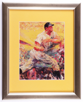 """Leroy Neiman """"Mickey Mantle: The Commerce Comet"""" 13x16 Custom Framed Print Display at PristineAuction.com"""