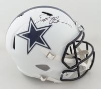 Deion Sanders Signed Cowboys Full-Size Matte White Speed Helmet (Beckett COA) at PristineAuction.com