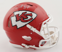 Travis Kelce Signed Chiefs Full-Size Authentic On-Field Speed Helmet (Beckett Hologram) at PristineAuction.com