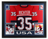 Mike Richter Signed 35x43 Custom Framed Jersey Display (JSA Hologram) at PristineAuction.com
