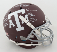 Johnny Manziel Signed Texas A&M Aggies Full-Size Authentic On-Field Helmet with (7) Career Highlight Stat Inscriptions (JSA COA) at PristineAuction.com