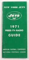 Jets 1971 Vintage Media Guide & Roster at PristineAuction.com