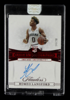 Romoe Langford 2019-20 Panini Flawless Collegiate Rookie Gems Signatures Ruby #109 #14/20 at PristineAuction.com