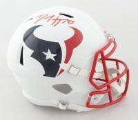 DeAndre Hopkins Signed Texans Full-Size Matte White Speed Helmet (JSA COA) at PristineAuction.com