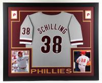 Curt Schilling Signed 35x43 Custom Framed Jersey Display (JSA Hologram) at PristineAuction.com