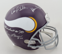 """Vikings """"Purple People Eaters"""" Full-Size Helmet Signed by (4) with Carl Eller, Alan Page, Gary Larsen & Jim Marshall (JSA COA) at PristineAuction.com"""