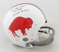 """O. J. Simpson Signed Bills Full-Size Throwback Suspension Helmet Inscribed """"H.O.F. 85"""" & """"2003 Yds 1973"""" (JSA COA) at PristineAuction.com"""