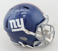 """Lawrence Taylor Signed Giants Full-Size Speed Helmet Inscribed """"HOF 99"""" (Beckett COA) at PristineAuction.com"""