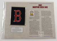 Red Sox Official Cooperstown Collection 1967 Patch Card with 9x12 Scorecard at PristineAuction.com