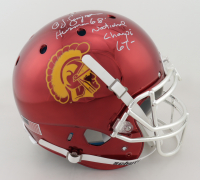 """O.J. Simpson Signed USC Trojans Full-Size Authentic On-Field Chrome Helmet Inscribed """"Heisman '68"""" & """"National Champs 67"""" (JSA COA) at PristineAuction.com"""