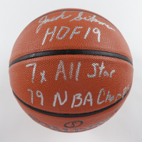 """Jack Sikma Signed NBA Game Ball Series Basketball Inscribed """"HOF 19"""", """"7x All Star"""" & """"79 NBA Champs"""" (MAB Hologram) (See Description) at PristineAuction.com"""