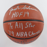 """Jack Sikma Signed NBA Game Ball Series Basketball Inscribed """"HOF 19"""", """"7x All Star"""" & """"79 NBA Champs"""" (MAB Hologram) at PristineAuction.com"""
