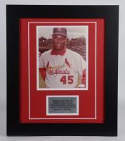 Bob Gibson Signed Cardinals 17.5x20.5 Custom Framed Photo Display (JSA Hologram) at PristineAuction.com