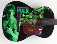 "Lou Ferrigno Signed ""The Incredible Hulk"" 38"" Acoustic Guitar (JSA COA) (See Description) at PristineAuction.com"