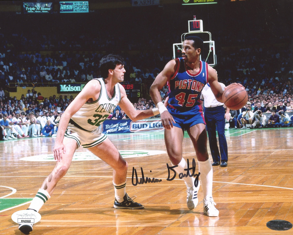 Adrian Dantley Signed Pistons 8x10 Photo (JSA COA & Playball Ink Hologram) at PristineAuction.com
