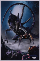"""Greg Horn Signed """"Alien Charging"""" 11x17 Lithograph (JSA COA) at PristineAuction.com"""