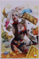 """Greg Horn Signed """"Harley Quinn: Blood Money Gold"""" 11x17 Lithograph (JSA COA) at PristineAuction.com"""