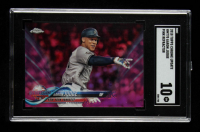 Aaron Judge 2018 Topps Chrome Update Pink Refractors #HMT70 (SGC 10) at PristineAuction.com