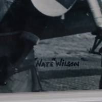 """Charles McGee Signed 8x10 Photo with Nate Wilson Inscribed """"'Nate' Wilson"""" (BGS Encapsulated) at PristineAuction.com"""
