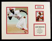 Lou Brock Signed Cardinals 14x18 Custom Matted Card Display (JSA COA) at PristineAuction.com