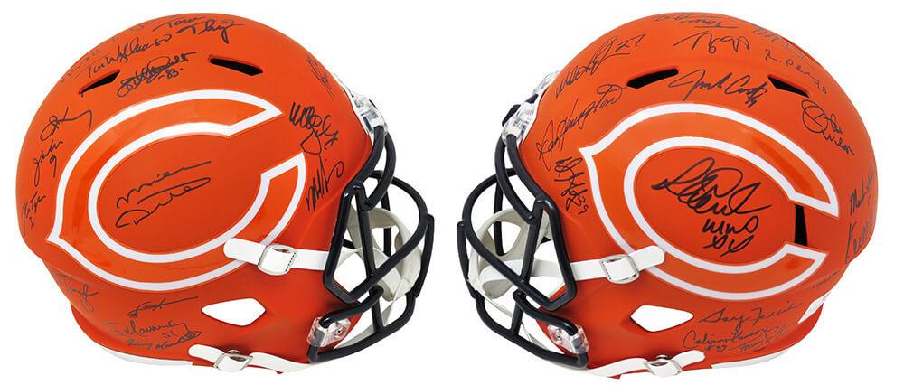 1985 Bears LE Full-Size AMP Alternate Speed Helmet Team-Signed by (28) with Mike Ditka, Mike Singletary, Richard Dent, Dan Hampton (Schwartz COA) at PristineAuction.com