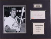 Enos Slaughter Signed Cardinals 14x18 Custom Matted Cut Display (SOP Hologram) at PristineAuction.com