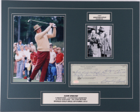 Sam Snead Signed 16x20 Custom Matted Check Display (SOP COA) at PristineAuction.com