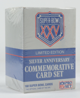 Super Bowl XXV LE Silver Anniversary Commemorative NFL Football Card Set (See Description) at PristineAuction.com