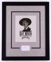 "Val Kilmer Signed ""Tombstone"" 18x22 Custom Framed Cut Display (ACOA COA) at PristineAuction.com"