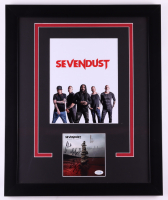 Seven Dust 18x22 Custom Framed Cut Display Signed By (5) With Clint Lowery, John Connolly, Lajon Witherspoon, Morgan Rose & Vince Hornsby (ACOA COA) at PristineAuction.com