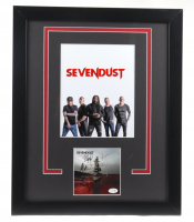 Sevendust 18x22 Custom Framed Cut Display Band-Signed By (5) With Clint Lowery, John Connolly, Lajon Witherspoon, Morgan Rose & Vince Hornsby (ACOA COA) at PristineAuction.com