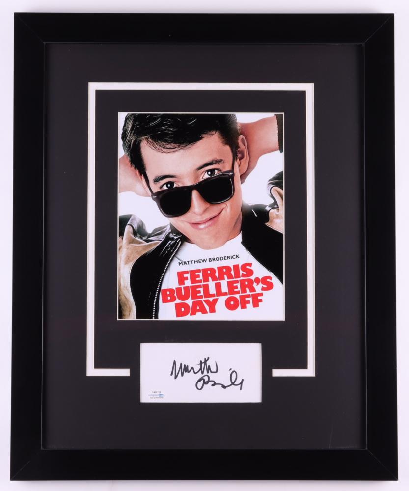 Matthew Broderick Signed 18x22 Custom Framed Cut Display (ACOA COA) at PristineAuction.com